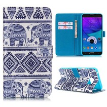 Olifantjes Bookcase hoes Samsung Galaxy Note 5