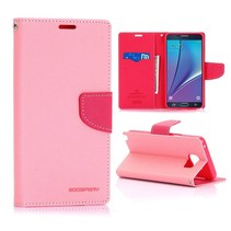Fancy diary roze Booktype  hoes Samsung Galaxy Note 5