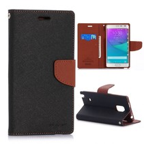 Fancy diary zwarte Bookcase hoes Samsung Galaxy Note Edge