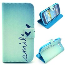 Smile Quote Bookcase hoesje Samsung Galaxy S3 (Neo)