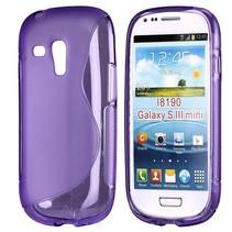 S-line paars TPU hoesje Samsung Galaxy S3 Mini