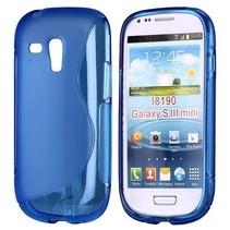 S-line blauw TPU hoesje Samsung Galaxy S3 Mini