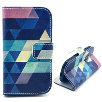Colorful triangle Bookcase Samsung Galaxy S3 Mini
