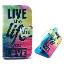 Live the Life You Love Booktype  Samsung Galaxy S3 Mini