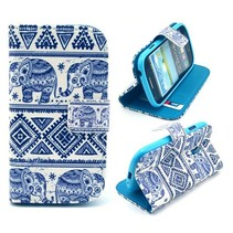 Olifanten blauw hoesje Samsung Galaxy S3 Mini