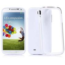 Wit / transparante bumper Samsung Galaxy S4