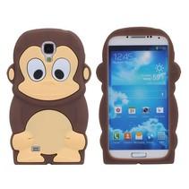 Bruine aap siliconen hoesje Samsung Galaxy S4