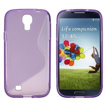Paars TPU S-design hoesje Samsung Galaxy S4
