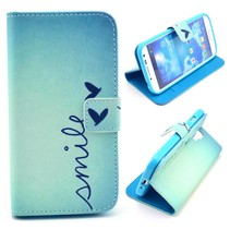 Smile Quote Bookcase hoesje Samsung Galaxy S4