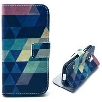 Colorful triangle Booktype  Samsung Galaxy S5 Mini