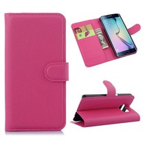 Roze book type hoes Samsung Galaxy S6 Edge