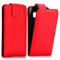 Rood Flip Case hoesje Samsung Galaxy S6 Edge