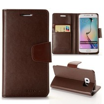 Diary bruine wallet hoes Samsung Galaxy S6 Edge