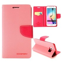 Diary roze Bookcase hoes Samsung Galaxy S6 Edge