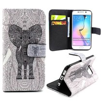 Tribal olifant Booktype  hoes Samsung Galaxy S6 Edge