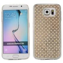 Goud blingbling TPU hoesje Samsung Galaxy S6 Edge