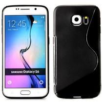 Zwart S-design TPU hoesje Samsung Galaxy S6 Edge