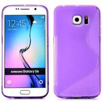 Paars S-design TPU hoesje Samsung Galaxy S6 Edge