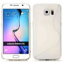 Transparant S-design TPU hoesje Samsung Galaxy S6 Edge