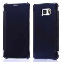 Donkerblauw clear view Bookcase hoes Samsung Galaxy S6 Edge Plus