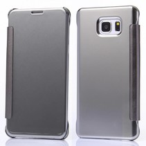 Zilveren clear view Bookcase hoes Samsung Galaxy S6 Edge Plus