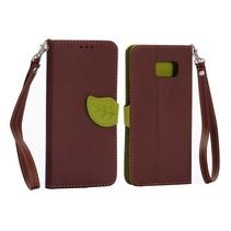 Leaf Bookcase hoes bruin Samsung Galaxy S6 Edge Plus