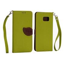 Leaf Bookcase hoes groen Samsung Galaxy S6 Edge Plus