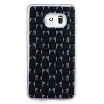 Zwart diamant TPU hoesje Samsung Galaxy S6 Edge Plus