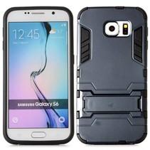 Zwart hybrid hoesje met standaard Samsung Galaxy S6