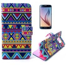 Kleurijke azteken Booktype  hoes Samsung Galaxy S6
