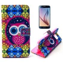 Kleurijke uil Booktype  hoes Samsung Galaxy S6