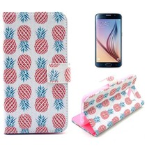 Pineapple design Booktype  hoes Samsung Galaxy S6