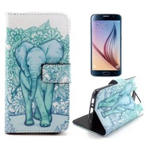 Elegante olifant Booktype  hoes Samsung Galaxy S6