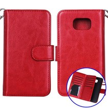 Rood 2-in-1 detachable luxe Bookcase hoesje Samsung Galaxy S6
