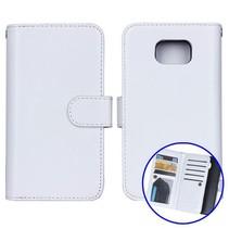 Wit 2-in-1 detachable luxe Bookcase hoesje Samsung Galaxy S6