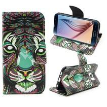 Kleurrijke tijger Booktype  hoes Samsung Galaxy S6