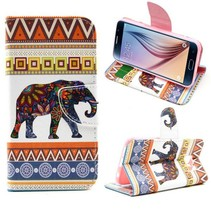 Aztec & olifant design Booktype  hoes Samsung Galaxy S6