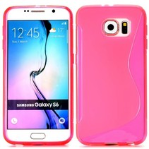 Roze S-design TPU hoesje Samsung Galaxy S6