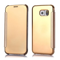 Gouden view cover Bookcase hoesje Samsung Galaxy S6