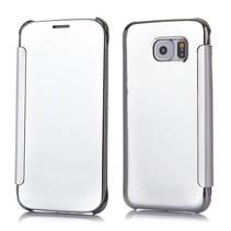 Zilveren view cover Bookcase hoesje Samsung Galaxy S6