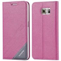 Roze / grijs Bookcase hoesje Samsung Galaxy S6