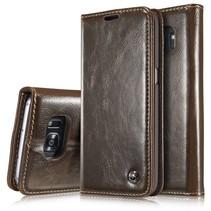 Bruin Bookcase Hoesje Samsung Galaxy S7 Edge