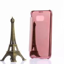 Roze Mirror Bookcase Hoesje Samsung Galaxy S7 Edge