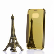 Goud Mirror Bookcase Hoesje Samsung Galaxy S7 Edge