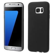 Zwart Mat TPU Hoesje Samsung Galaxy S7 Edge