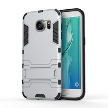 Zilver Hybrid Hoesje Samsung Galaxy S7 Edge