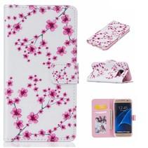 Roze Bloesem Bookcase Hoesje Samsung Galaxy S7 Edge