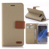 Diary Series Bruin Bookcase Hoesje Samsung Galaxy S7 Edge