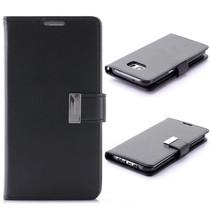Goospery Zwart Bookcase Hoesje Samsung Galaxy S7 Edge
