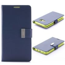 Goospery Blauw Bookcase Hoesje Samsung Galaxy S7 Edge